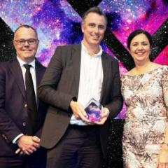 David Finn (Center) accepted the award for Premier of Queensland's Exporter of the Year