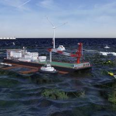 artist impression of a floating fish farm