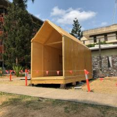 tiny house built by students