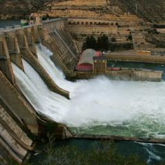 dam releasing water